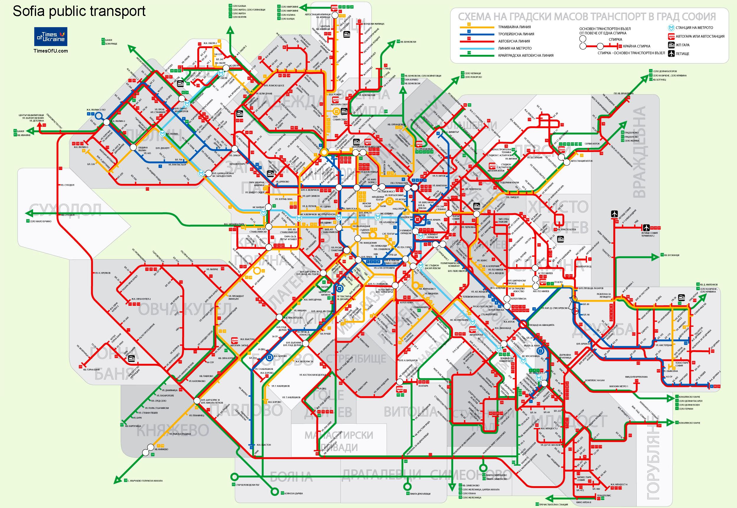 Times Of Ukraine Karta Obshestvennogo Transporta Sofii Sofia